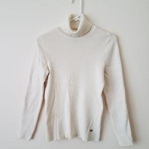 Ralph Lauren Ribbed Cream Turtleneck Sweater/Shirt